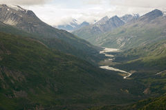 Kaskawulsh River and Mount Cairnes, Kluane National Park, Yukon Royalty Free Stock Images