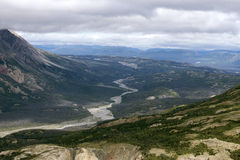 Kaskawulsh River Valley i den Kluane nationalparken, Yukon 02 Royaltyfria Foton