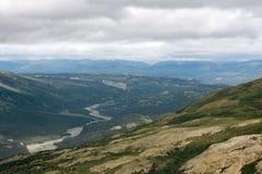 Kaskawulsh Rzeczna dolina w Kluane parku narodowym, Yukon 01 Fotografia Stock