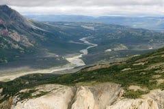 Kaskawulsh Rzeczna dolina w Kluane parku narodowym, Yukon 03 Fotografia Royalty Free