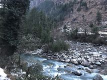 Kasol in winters royalty free stock images