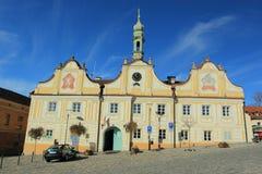 Kasperske hory. The baroque town hall in Kasperske hory, Czech Republic Stock Image