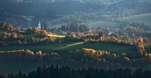 Kasperske Hory. A beautiful view at city Kasperske Hory Stock Image