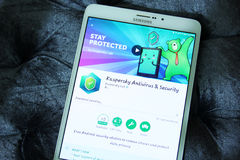 Kaspersky-Antivirus und Sicherheits-APP Stockfotografie