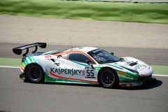 Kaspersky Motorsport Ferrari 488 GT3 at Monza. The Autodromo Nazionale Monza hosted the first endurance race of 2017 Blancpain GT Series Royalty Free Stock Images