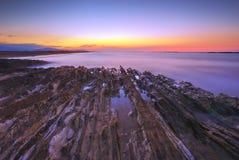 Kaspisch Strand in Azerbeidzjan Royalty-vrije Stock Foto's