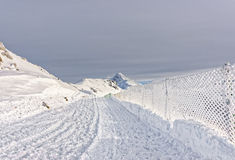 Kasprowy Wierch上面在Tatra山的扎科帕内在冬天 免版税库存照片