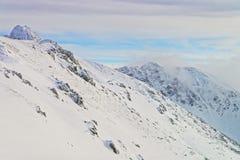 Kasprowy Wierch峰顶在扎科帕内在Tatra在冬天登上 库存照片