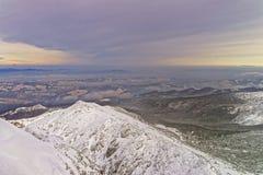 Kasprowy Wierch峰顶在Tatra山的扎科帕内在冬天 库存照片