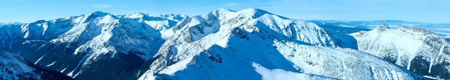 Kasprowy Wierch  in the Western Tatras. Winter panorama. Stock Image