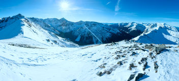 Kasprowy Wierch  in the Western Tatras. Winter panorama. Stock Photos