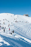 Kasprowy Wierch winter. Kasprowy in the snow and many tourists Stock Photo