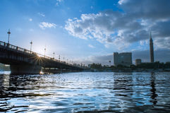 kasr γέφυρα EL Νείλος Στοκ φωτογραφίες με δικαίωμα ελεύθερης χρήσης