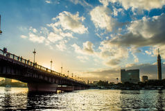 kasr el尼罗桥梁 免版税图库摄影