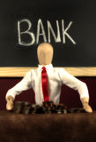 kassör i bank Royaltyfri Foto