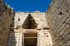 Kassa av atreusen på mycenae, Grekland Royaltyfri Foto