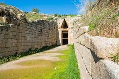 Kassa av atreusen på mycenae, Grekland royaltyfria foton
