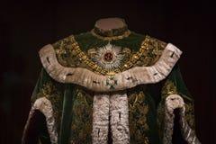 Kassa av den Hofburg för Habsburg dynastimuseum slotten i Wien Österrike royaltyfri fotografi