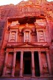 Kassa av Petra, Jordanien Arkivfoton