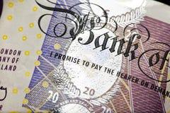 kassa bemärker ett pund sterling Royaltyfri Fotografi