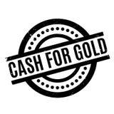 Kassa för guld- rubber stämpel arkivbild