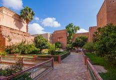 Kassa i Marrakechen Medina arkivfoton