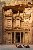 Kassa på Petra royaltyfri fotografi