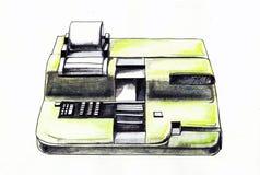 Kassaapparatillustration Arkivfoto