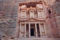 Kassan av den forntida staden för Petra, Jordanien Arkivbilder