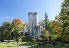 Kasselburg Castle in Vulkaneifel, Rhineland-Palatinate, Germany Royalty Free Stock Images