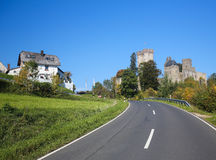 Kasselburg Castle in Vulkaneifel, Rhineland-Palatinate, Germany Royalty Free Stock Photos