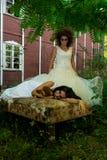 Kassera flickan Royaltyfria Foton