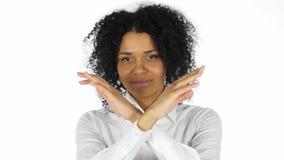 Kassera och att ogilla den afro- amerikanska kvinnan royaltyfria foton