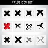 Kasserad symbolsuppsättning Arkivfoto