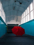 Kasserat paraply Arkivfoto
