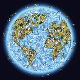 kasserat planet vektor illustrationer