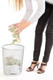 kassering av pengar Arkivbilder
