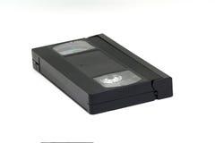 Kassett för VHS videoband som isoleras på vit bakgrund, Arkivbild