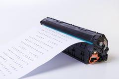 kassett isolerad white för laser-skrivare Arkivbilder