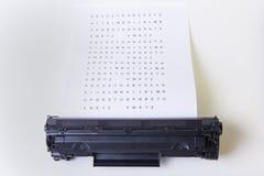 kassett isolerad white för laser-skrivare Royaltyfri Foto