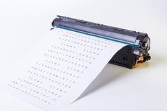 kassett isolerad white för laser-skrivare Arkivfoto
