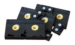 Kassett VHS till kortkortet DV Arkivfoton