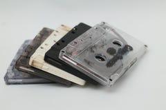 Kassettband, är en parallell magnetisk bandning, version 9 Arkivbild