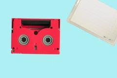 Kassette des Rotes 8mm mit seinem Kasten Lizenzfreie Stockbilder
