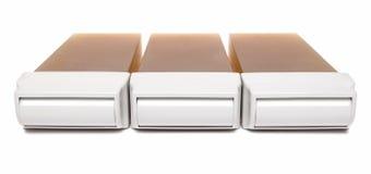 Kassetten mit Wachs Stockbild