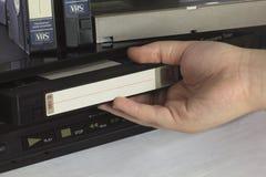 Kassetten und Spieler lizenzfreie stockfotos