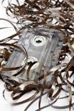 Kassettenband in einer Verwirrung Stockfoto
