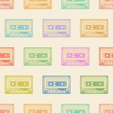 Kassettenfarbmuster auf hellem Hintergrund Lizenzfreie Stockbilder