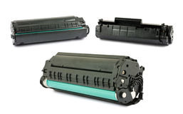 Kassetter för laser-skrivare Arkivbild