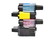 kassetter tömmer färgpulver Royaltyfria Bilder